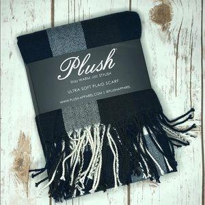 Plush Apparel ultra soft plaid scarf